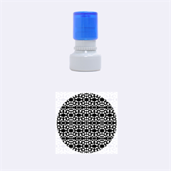 Dots Pattern Yellow Rubber Round Stamps (small) by BrightVibesDesign