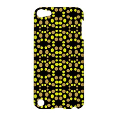 Dots Pattern Yellow Apple Ipod Touch 5 Hardshell Case by BrightVibesDesign