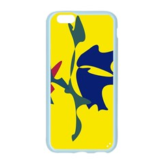 Yellow amoeba abstraction Apple Seamless iPhone 6/6S Case (Color) by Valentinaart