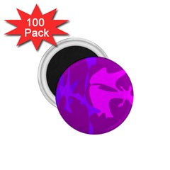Purple, Pink And Magenta Amoeba Abstraction 1 75  Magnets (100 Pack)  by Valentinaart