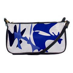 Blue Amoeba Abstract Shoulder Clutch Bags by Valentinaart
