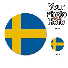Flag Of Sweden Multi Purpose Cards (round)  by abbeyz71