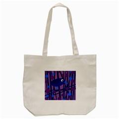 Purple bird Tote Bag (Cream) by Valentinaart