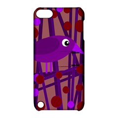 Sweet Purple Bird Apple Ipod Touch 5 Hardshell Case With Stand by Valentinaart