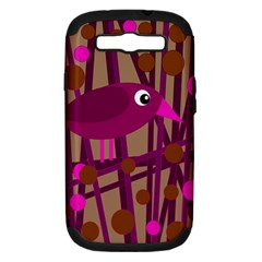 Cute Magenta Bird Samsung Galaxy S Iii Hardshell Case (pc+silicone) by Valentinaart
