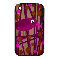 Cute Magenta Bird Apple Iphone 3g/3gs Hardshell Case (pc+silicone) by Valentinaart