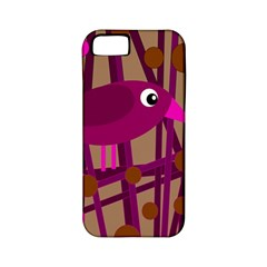 Cute Magenta Bird Apple Iphone 5 Classic Hardshell Case (pc+silicone) by Valentinaart