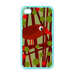 Red Cute Bird Apple Iphone 4 Case (color) by Valentinaart