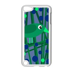 Green And Blue Bird Apple Ipod Touch 5 Case (white) by Valentinaart