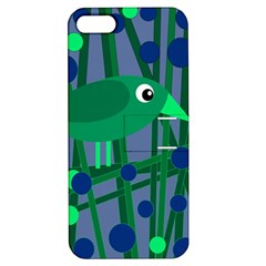 Green and blue bird Apple iPhone 5 Hardshell Case with Stand