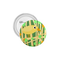 Yellow Little Bird 1 75  Buttons by Valentinaart
