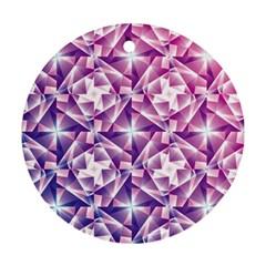 Purple Shatter Geometric Pattern Ornament (round)  by TanyaDraws