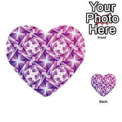Purple Shatter Geometric Pattern Multi Purpose Cards (heart)  by TanyaDraws