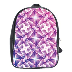 Purple Shatter Geometric Pattern School Bags(large)  by TanyaDraws