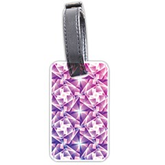 Purple Shatter Geometric Pattern Luggage Tags (two Sides) by TanyaDraws