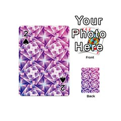 Purple Shatter Geometric Pattern Playing Cards 54 (Mini)  by TanyaDraws
