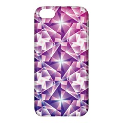 Purple Shatter Geometric Pattern Apple Iphone 5c Hardshell Case by TanyaDraws