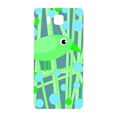 Green Bird Samsung Galaxy Alpha Hardshell Back Case by Valentinaart