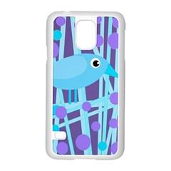 Blue And Purple Bird Samsung Galaxy S5 Case (white) by Valentinaart