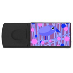 Purple and blue bird USB Flash Drive Rectangular (4 GB)