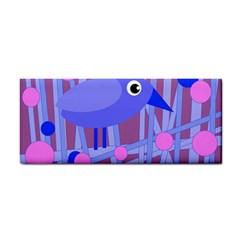 Purple And Blue Bird Hand Towel by Valentinaart
