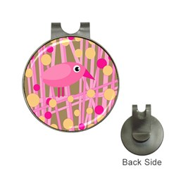 Pink Bird Hat Clips With Golf Markers by Valentinaart