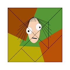 Crazy Girl Acrylic Tangram Puzzle (6  X 6 ) by Valentinaart