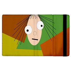 Crazy Girl Apple Ipad 3/4 Flip Case by Valentinaart