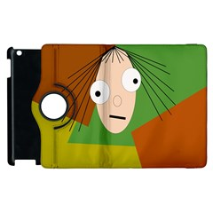 Crazy Girl Apple Ipad 3/4 Flip 360 Case by Valentinaart