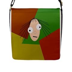 Crazy Girl Flap Messenger Bag (l)  by Valentinaart
