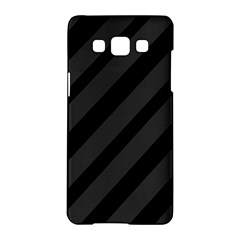 Gray and black lines Samsung Galaxy A5 Hardshell Case  by Valentinaart