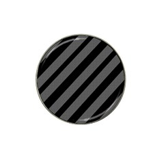 Black And Gray Lines Hat Clip Ball Marker (10 Pack) by Valentinaart