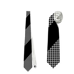 Black And Gray Lines Neckties (two Side)  by Valentinaart