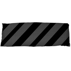 Black And Gray Lines Body Pillow Case Dakimakura (two Sides) by Valentinaart