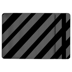 Black and gray lines iPad Air 2 Flip by Valentinaart