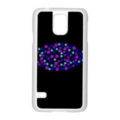 Purple Fish Samsung Galaxy S5 Case (white) by Valentinaart