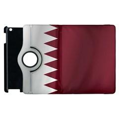 Flag Of Qatar Apple iPad 2 Flip 360 Case by artpics