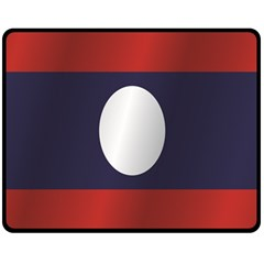 Flag Of Laos Double Sided Fleece Blanket (Medium)  by artpics