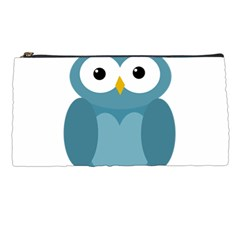 Cute Blue Owl Pencil Cases by Valentinaart