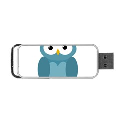 Cute Blue Owl Portable Usb Flash (two Sides) by Valentinaart