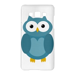 Cute Blue Owl Samsung Galaxy A5 Hardshell Case  by Valentinaart