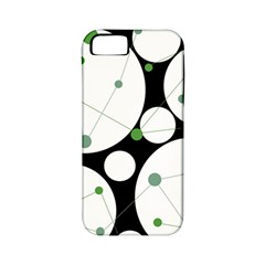 Decorative Circles   Green Apple Iphone 5 Classic Hardshell Case (pc+silicone) by Valentinaart