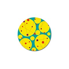 Yellow And Green Decorative Circles Golf Ball Marker (10 Pack) by Valentinaart