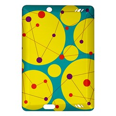Yellow And Green Decorative Circles Amazon Kindle Fire Hd (2013) Hardshell Case by Valentinaart