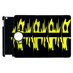 Yellow Abstract Pattern Apple Ipad 2 Flip 360 Case by Valentinaart
