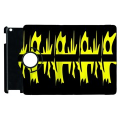 Yellow Abstract Pattern Apple Ipad 3/4 Flip 360 Case by Valentinaart