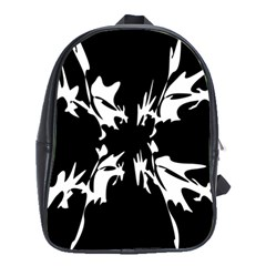 Black And White Pattern School Bags (xl)  by Valentinaart