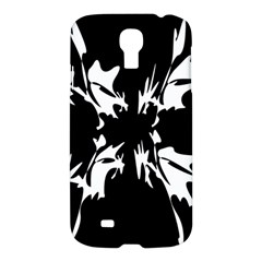 Black And White Pattern Samsung Galaxy S4 I9500/i9505 Hardshell Case by Valentinaart