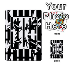 Black And White Abstraction Multi Purpose Cards (rectangle)  by Valentinaart