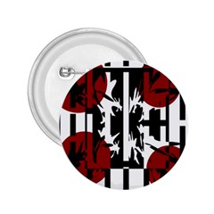 Red, Black And White Elegant Design 2 25  Buttons by Valentinaart